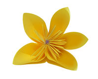 Paper flower. Origami traditional Japanese art make figures from paper stock photo