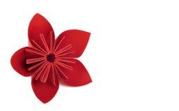 Paper flower. Red paper flower artwork Stock Photo