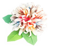 Paper flower ball. An origami flower ball on a white background Royalty Free Stock Images