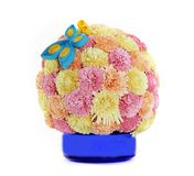 Paper flower ball and butterfly, quilling Royalty Free Stock Images