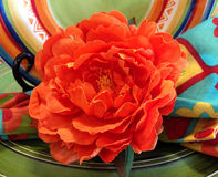 Paper Flower for Cinco de Mayo Royalty Free Stock Images