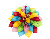 Paper flower color. Plain color isolated handmade Stock Photos