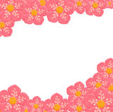 Paper flower frame Royalty Free Stock Photos