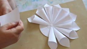 Paper flower handmade stock footage