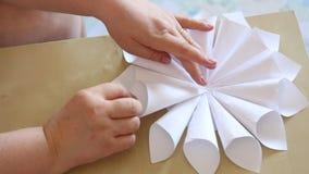 Paper flower handmade stock video footage