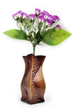Paper flower pot. With isolated background royalty free stock photos