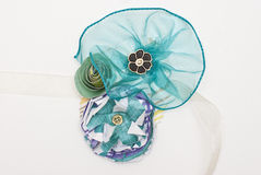 Paper Flower and Ribbon Corsage Royalty Free Stock Images