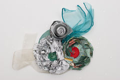 Paper Flower and Ribbon Literary Corsage Stock Image
