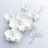 Paper flowers background stock illustration