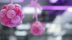 Paper flowers stock video footage