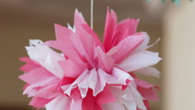 Paper flowers stock video