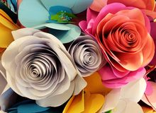 Paper flowers closeup Royalty Free Stock Image