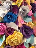 Paper flowers closeup Royalty Free Stock Images