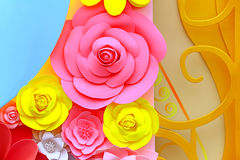 Paper flowers decoration Royalty Free Stock Photo