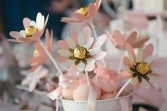 Paper flowers decorationa Stock Image