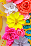 Paper flowers decorative background Stock Photos