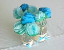 Paper flowers Flores de papel Stock Photography