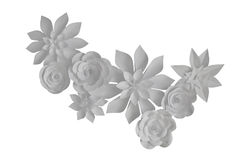 Paper flowers Stock Images