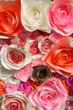 Paper flowers handmade background Royalty Free Stock Images