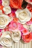 Paper flowers handmade background Stock Photo