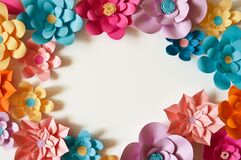 Paper flowers. interior decor. wall decoration in the interior. paper decor. flowers in the interior. decoration with large flower