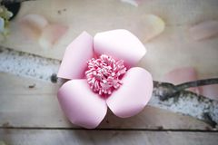 Paper flowers are perfect for bringing spring inside any time of the year Stock Photo
