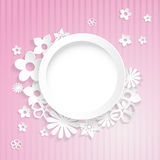 Paper flowers with ring Royalty Free Stock Photo