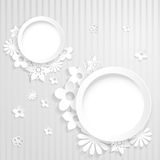 Paper flowers with two rings Royalty Free Stock Photo