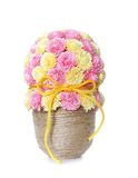 Paper flowers in vase, quilling Royalty Free Stock Photo