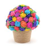 Paper flowers in weight. Royalty Free Stock Photos