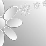 Paper flowers on white background royalty free illustration