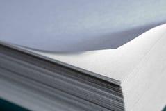 Paper fold. Short depth of field Stock Image