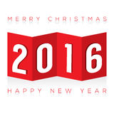 2016 Paper Fold Greeting Card Stock Photo