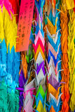 Paper folded cranes at Atomic Bomb Memorial Mound Royalty Free Stock Photo