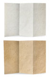 Paper folded, white and brown old paper texture Stock Photography
