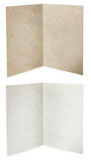 Paper folded, white and brown old paper texture Royalty Free Stock Photo