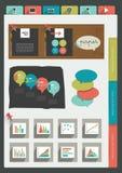 Paper folder with business graphs. Paper folder with business graphs, charts, stickers Stock Photo