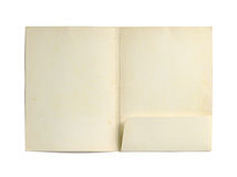 Paper folder. Old paper folder (with clipping path) isolated on white background Royalty Free Stock Photography