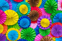 Paper folding multicolored abstract for background Stock Photography