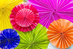 Paper folding Multicolored ,Background of colorful paper Royalty Free Stock Photo