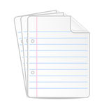 Paper folias, from a notebook, background for a design Royalty Free Stock Photography