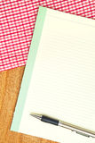 Paper for food recipe Royalty Free Stock Image