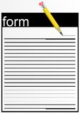 Paper form. Stock Photography