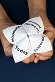 Paper Fortune Teller royalty free stock photography