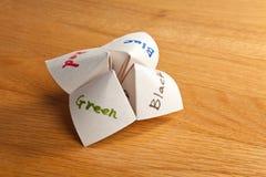 Paper Fortune Teller. Close up Stock Photos