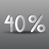 Paper forty percent Stock Image