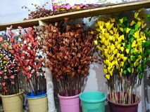 paper foto för härliga blommor mycket arkivfoto