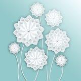paper foto för härliga blommor mycket Volymetrisk blom- bakgrund illustration 3d för vykortet, dekor, inbjudankort Royaltyfri Bild