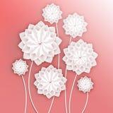 paper foto för härliga blommor mycket Volymetrisk blom- bakgrund illustration 3d för vykortet, dekor, inbjudankort Royaltyfri Fotografi
