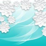 paper foto för härliga blommor mycket Volymetrisk blom- bakgrund illustration 3d för vykortet, dekor, inbjudankort Fotografering för Bildbyråer